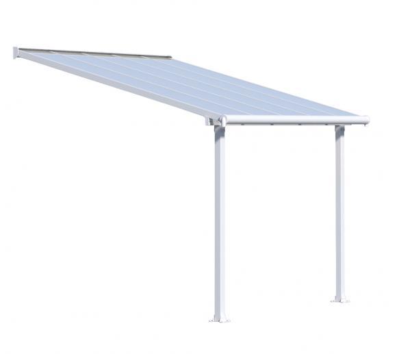 Palram Terrassenüberdachung Olympia 300x305 cm weiss ;16mm Doppelstegplatten