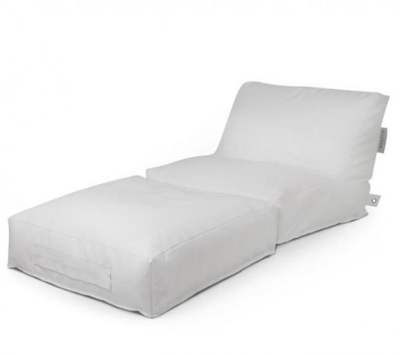 Outbag Sitzsack, Sitzkissen, Sitzsessel Peak Deluxe Weiß