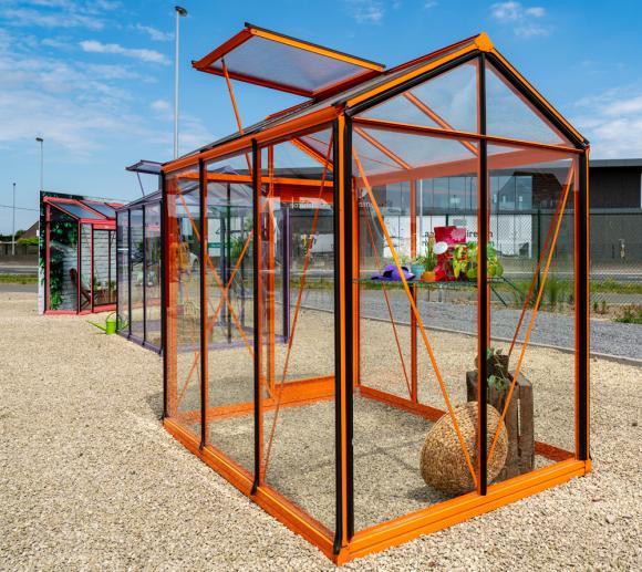 ACD Aluminium Glas Gewächshaus Piccolo P03 schwarz, 3,56m²