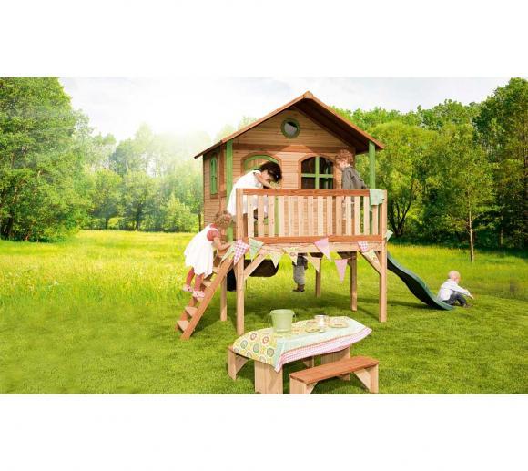 Axi Kinderspielhaus Sophie inkl. großer Veranda & Rutsche
