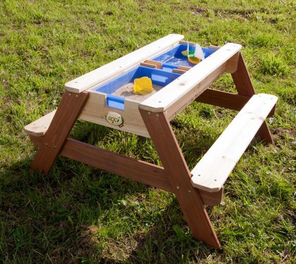Axi Nick Sand, Wasser & Picknicktisch inkl. 2 Bänken und Wannen