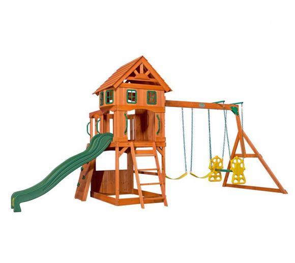 Backyard Discovery Spielplatz Atlantic inkl. Schaukeln und Rutsche