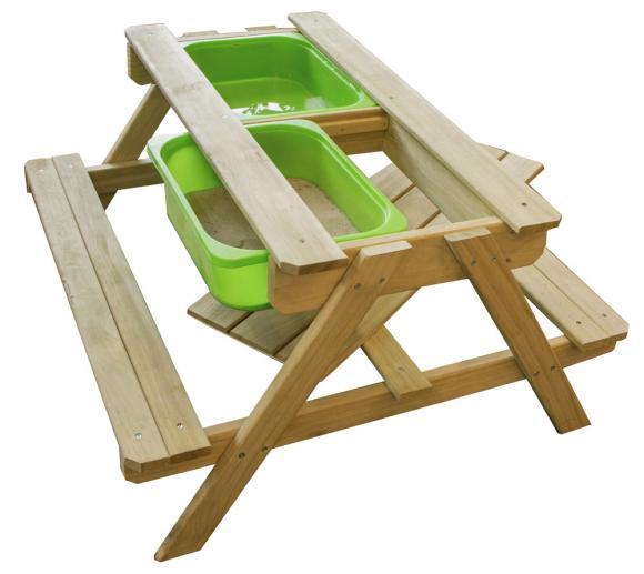 Pragma Picknicktisch, Kindergartentisch mit Bänken Dual Top