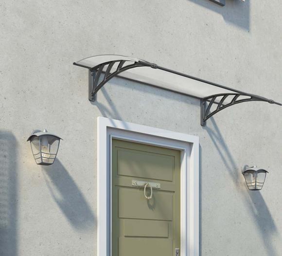 Palram Vordach, Haustürüberdachung Neo 1350 klar, 137x86 cm