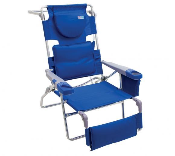 Rio Brands Strandstuhl und Strandliege blau Leselounge