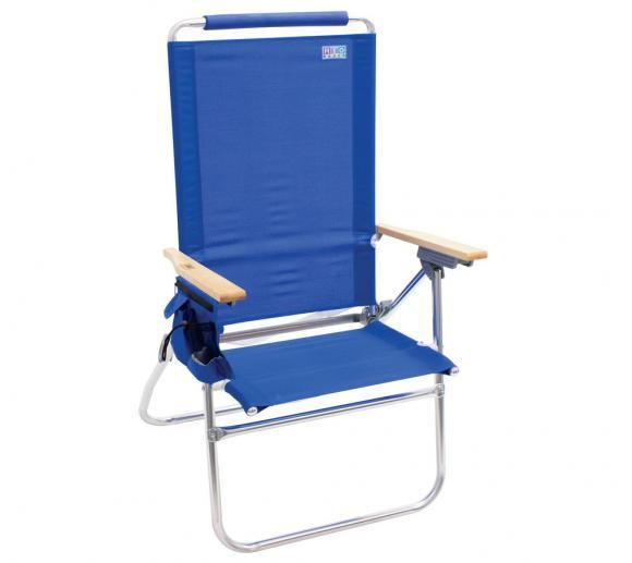 Rio Brands Garten- und Strandstuhl blau Klappstuhl