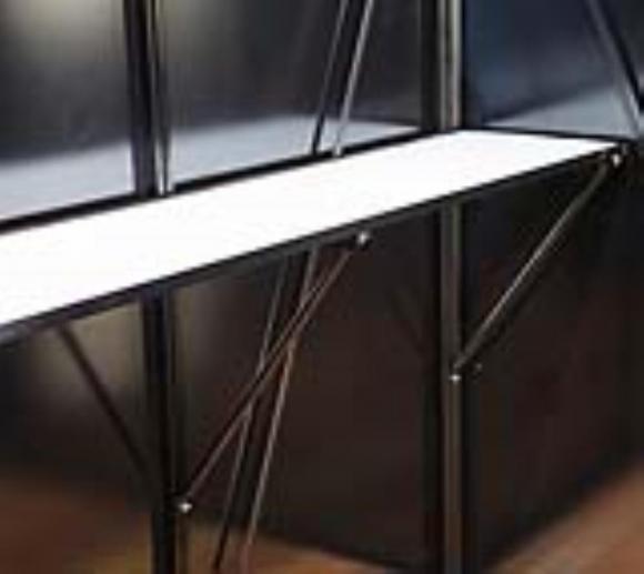 Gewächshaus Regal 150cm für ACD Gewächshäuser Silber