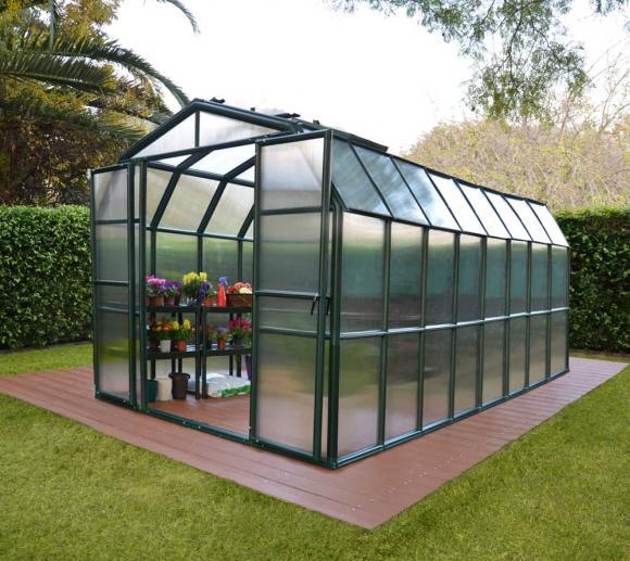 Rion Kunststoff Gewächshaus Grand Gardener 48, 267x514cm