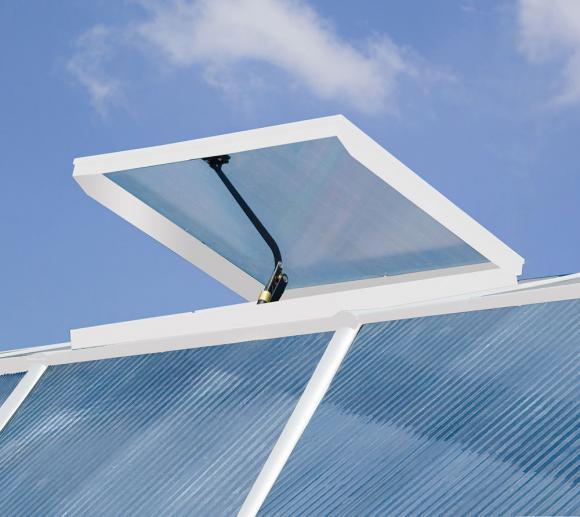 Rion Dachfenster für Gewächshaus Sun Room Weiß