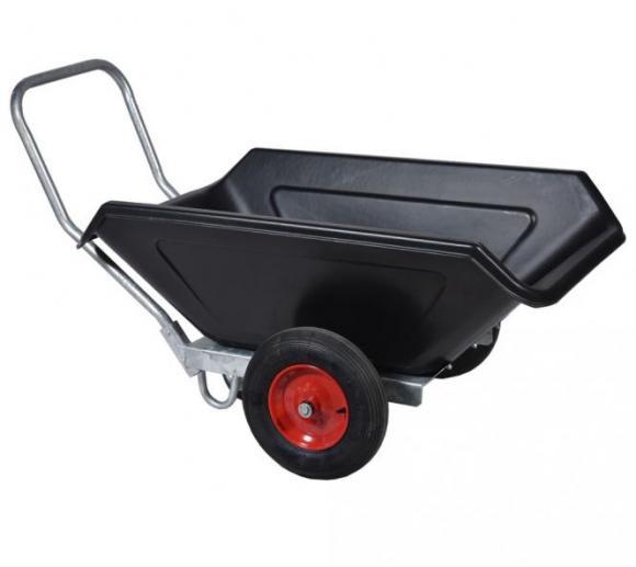Roto Schubkarre L schwarz, Transportkarre, Mulden-Kipper, 250l Volumen