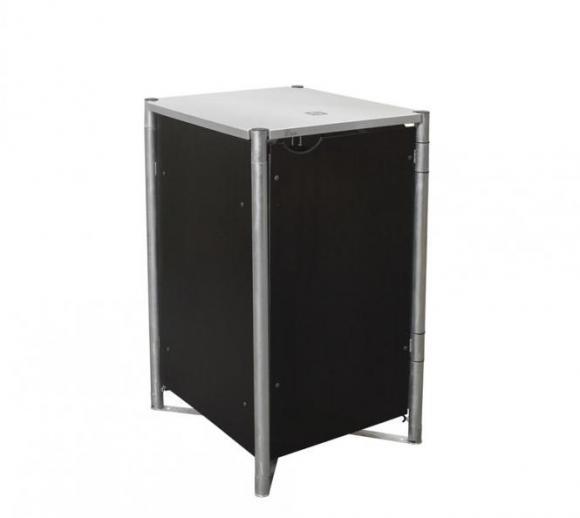 Hide Mülltonnenbox, Mülltonnenverkleidung schwarz; Für 1 Mülltonne 140l Volumen