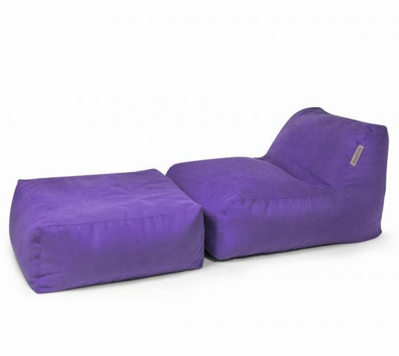 Pushbag Sitzsack, Sitzkissen, Sitzliege Set Chair/Easy Soft violett