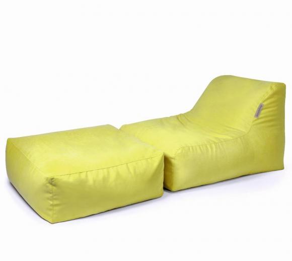 Pushbag Sitzsack, Sitzkissen, Sitzliege Set Chair/Easy Soft lime