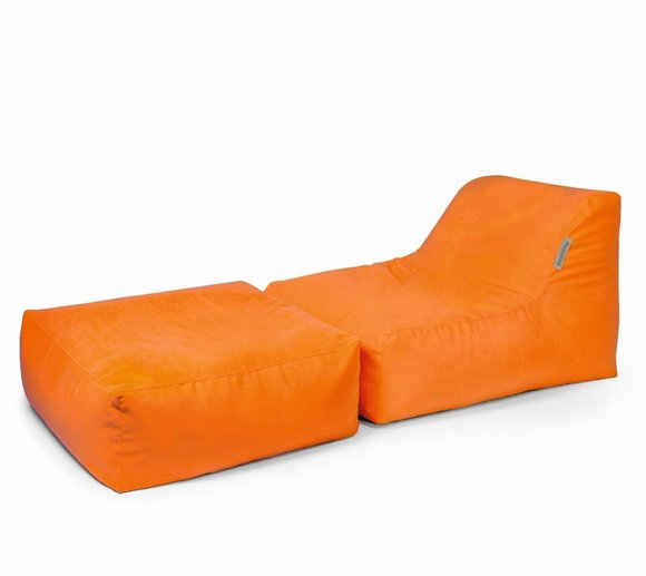 Pushbag Sitzsack, Sitzkissen, Sitzliege Set Chair/Easy Soft orange