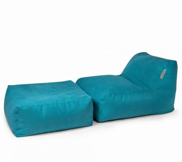 Pushbag Sitzsack, Sitzkissen, Sitzliege Set Chair/Easy Soft petrol blau