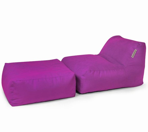 Pushbag Sitzsack, Sitzkissen, Sitzliege Set Chair/Easy Soft purple