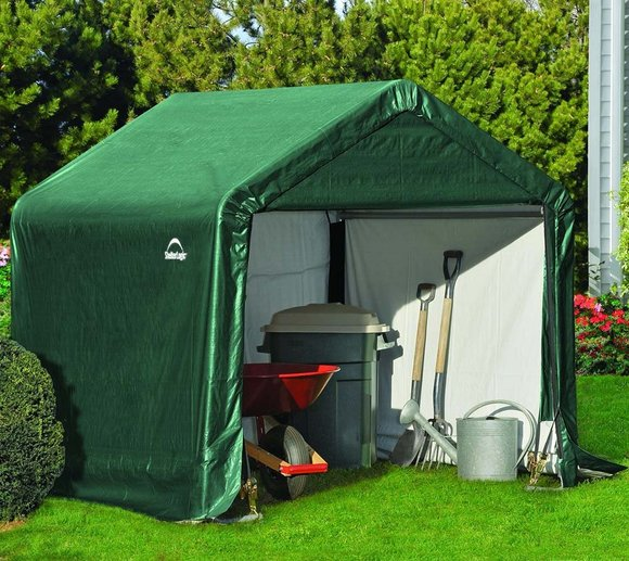 ShelterLogic Foliengerätehaus in-a-Box, 3,24m², 180x180 cm grün