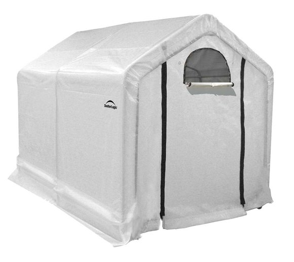 ShelterLogic Foliengewächshaus 4,32m² inkl. Regalen 180x240 cm