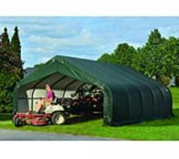 ShelterLogic Foliengarage, Folienscheune, Lagerzelt 40,88 m², 560x730 cm