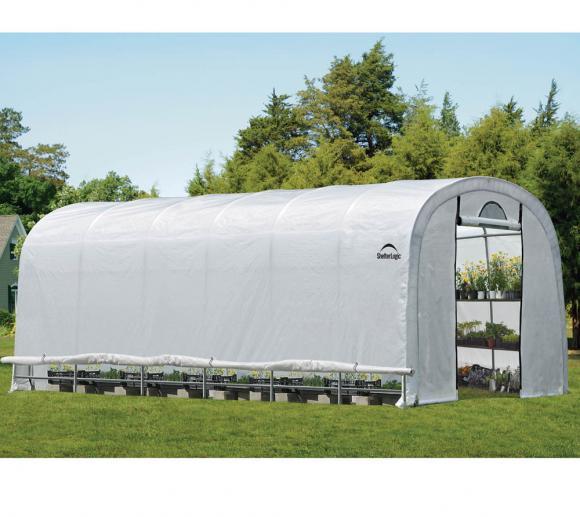 ShelterLogic Foliengewächshaus 27 m², 370x730cm