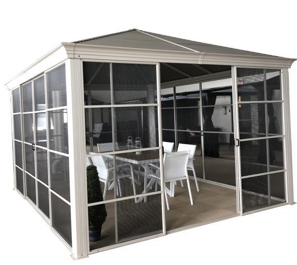 Sojag Aluminium Pavillon Striano 12x14; inkl. Sonnenschutz; 427x362 cm