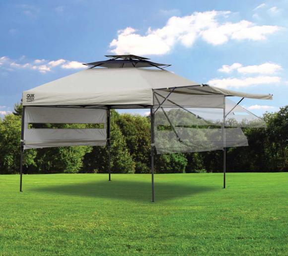Quik Shade Faltpavillon taupe, 305x305 cm inkl. Seitenverkleidung u. Rolltasche