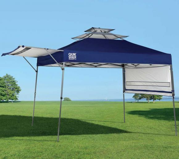 Quik Shade Faltpavillon blau, 305x305 cm inkl. Seitenverkleidung