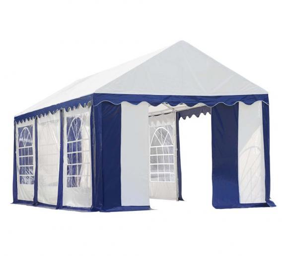 ShelterLogic Partyzelt ,Festzelt und Pavillon weiß/blau, 305x610 cm