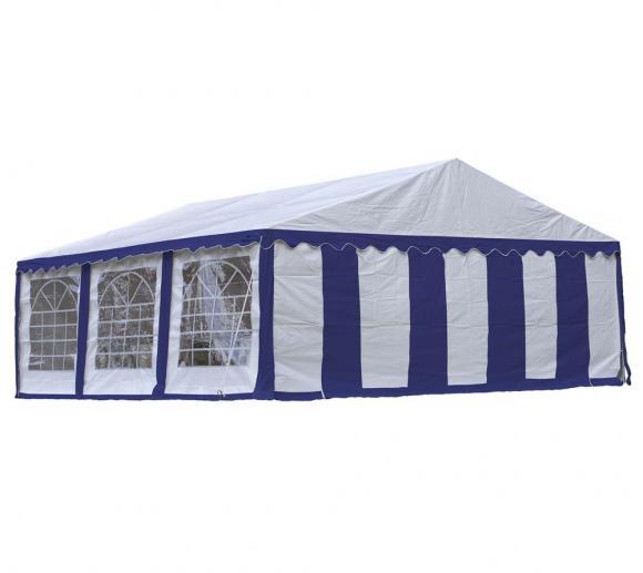 ShelterLogic Partyzelt, Festzelt und Pavillon weiß/blau, 610x610 cm