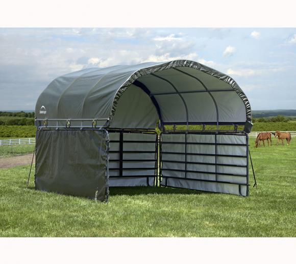 ShelterLogic Weidezelt 370x370 Seitenverkleidung Gehege Erweiterung ohne Stahlgestell