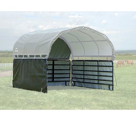 ShelterLogic Weidezelt 370x370 Seitenverkleidung ohne Stahlgestell