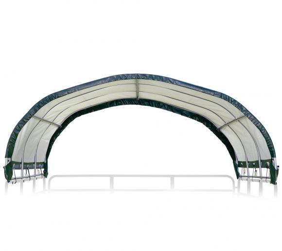 ShelterLogic Weidezelt- und Pferdestallüberdachung ohne Stahlgestell, 370x370x160 cm