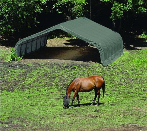 ShelterLogic Run-In-Shed Weidezelt Weideunterstand 40,9m², 670x610 cm