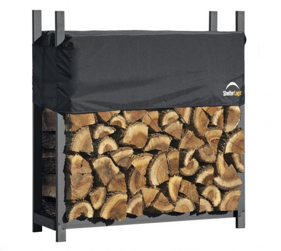 ShelterLogic Kaminholzregal 120cm mit Abdeckung, 1.000kg Traglast