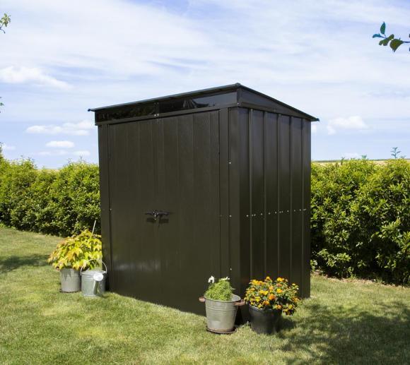 Spacemaker Metallgerätehaus 6x4 onyx schwarz, 208x130 cm