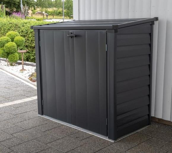 Spacemaker Mülltonnenbox, Gerätebox anthrazit, 144x75 cm