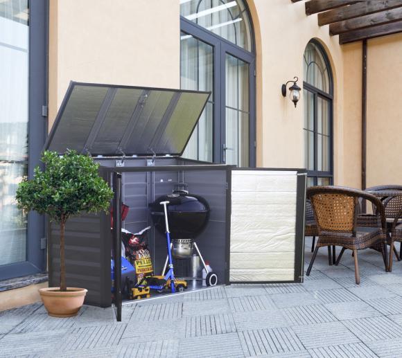 Spacemaker Mülltonnenbox, Gerätebox anthrazit, 183x75 cm
