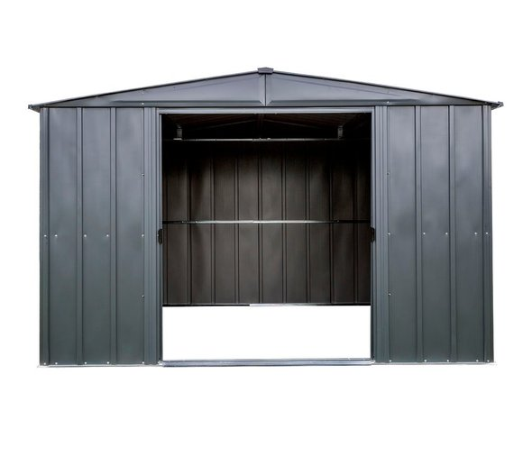 Spacemaker Metallgerätehaus 10x10 grau, 313x297 cm