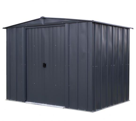 Spacemaker Metallgerätehaus 8x6 grau, 253x181 cm