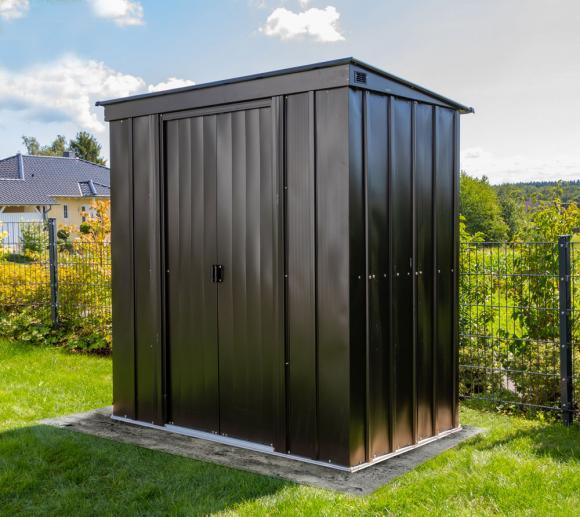 Spacemaker Metallgerätehaus 6x4 onyx schwarz 195x196 cm