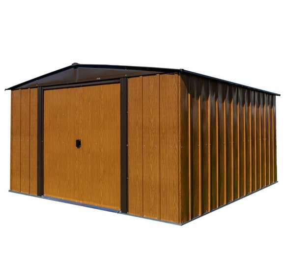 "Spacemaker Gerätehaus Woodlake 10x12 ""Holzoptik"", 313x370 cm"