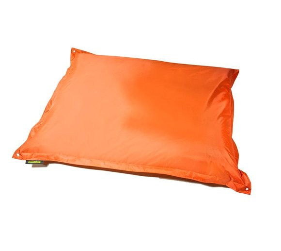 Pushbag Sitzsack, Sitzkissen, Sitzsessel Square Oxford orange