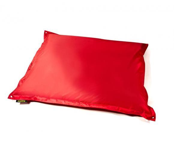 Pushbag Sitzsack, Sitzkissen, Sitzsessel Square Oxford Rot
