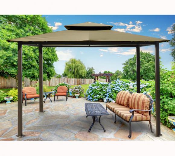 Paragon Outdoor Aluminium Pavillon Kingsbury 11x14 sand, 330x450 cm