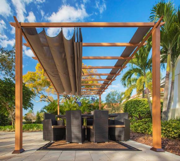 Paragon Outdoor Aluminium Pavillon Gazebo Florenz 11x16 hellbraun