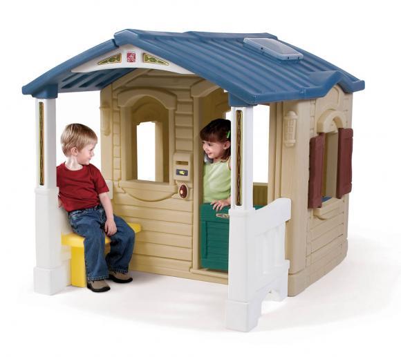 Step2 Spielhaus Front Porch Kinderspielhaus Kunststoff 130x120 cm