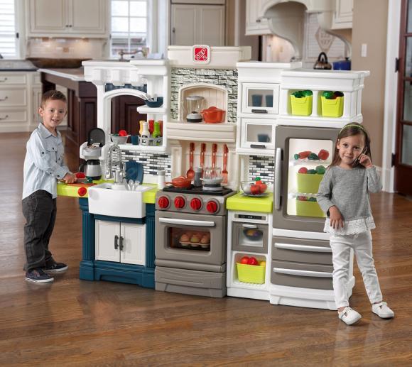 Step2 Spielküche Elegant Kinderspielküche Kunststoff 170x130cm