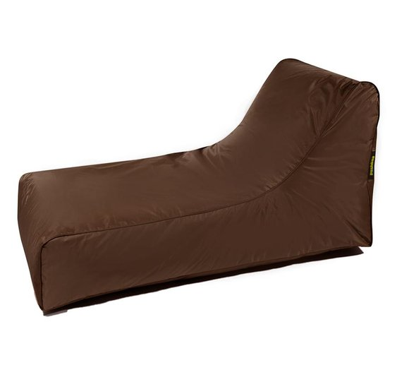 Pushbag Sitzsack, Sitzliege, Sitzsessel Stretcher Oxford braun