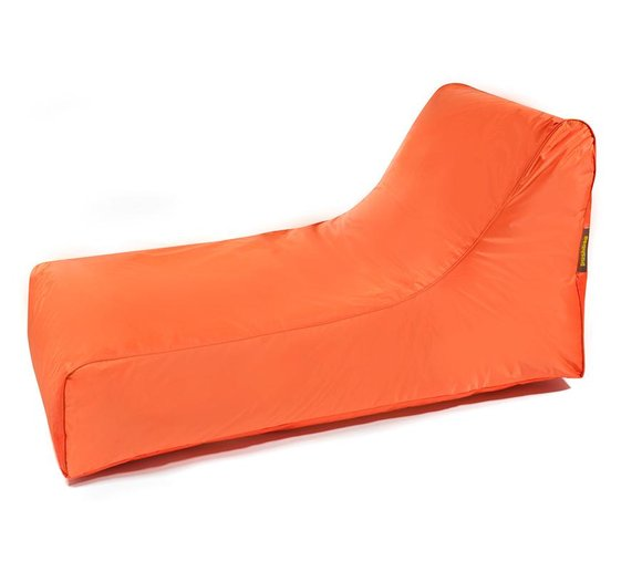 Pushbag Sitzsack, Sitzliege, Sitzsessel Stretcher Oxford orange