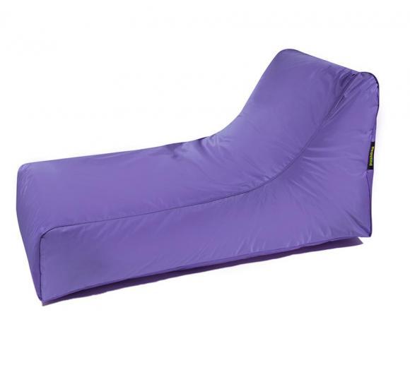Pushbag Sitzsack, Sitzliege, Sitzsessel Stretcher Oxford purple